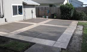 square concrete patio images