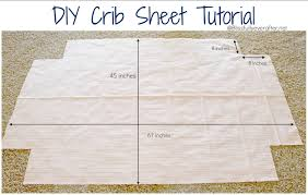 tutorial crib sheets | Step 1: Cut fabric to measure 45' high by