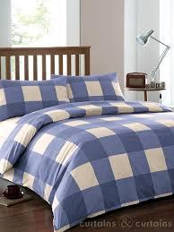 squares blue cream duvet cover