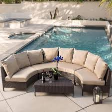 five piece outdoor dark brown wicker lounge set