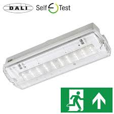 axiom ip65 led bulkhead exit sign emergency lighting products axiom led bulkhead exit sign dali self test