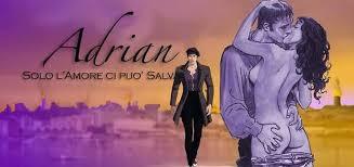Promo Adrian Prisencolinensinainciusol disegni di Manara: Adrian vestito, Gilda nuda