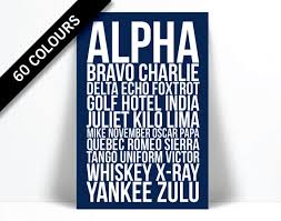It is also used for quicker and faster communication due to the fact that things are not said in full form. Alpha Bravo Charlie Art Print Phonetic Alphabet Poster Etsy