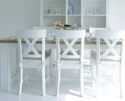 amazing white wooden dining chairs 3 village wood chair and natural cushion pertaining to white wooden chair ordinary