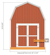 10x12 shed plans gambrel shed front view