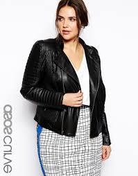 women s plus size leather biker jacket
