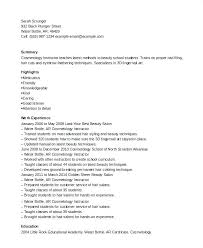 Resume For Cosmetology Student Cosmetology Resume Sample Cosmetologist Student Samples Mmventures Co