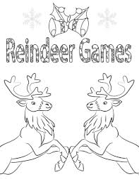 Home > christmas coloring pages > free printable reindeer coloring pages for kids. Free Printable Reindeer Games Coloring Page Mama Likes This