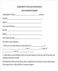 Sale Agreement Forms Business Agreement Form
