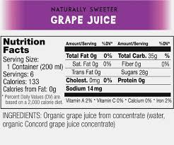 welch s light g juice nutrition facts 15 images the