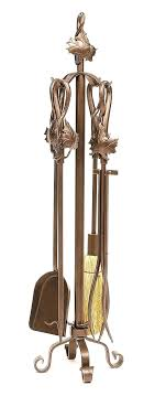 copper fireplace tool set 4 piece maple leaf wrought iron fireplace tool set antique copper fireplace