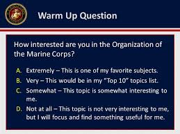 the organization of the marine corps ppt 5 warm