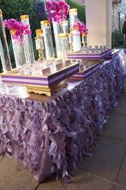 creative escort card table idea - ruffled linen in #lavender and #purple  tones Wildflower