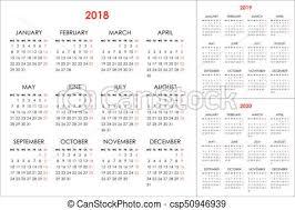2019 Calendario 2020 2018 Anni Settimana Lunedì Inizi Anni