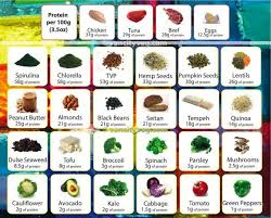 High Protein Foods Chart Protine Chart Only Some Of The Many Foods That Have