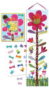 Eeboo Hot Pink Flower Growth Chart Import It All