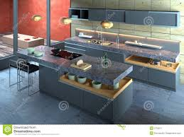Modern Kitchen Interiors Luxury Modern Kitchen Interior Stock Image Image 2750211