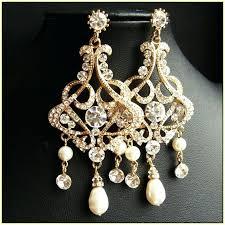 gold pearl chandelier earrings gold chandelier earrings wedding white gold pearl chandelier earrings
