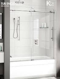 frameless sliding shower doors tub. Fleurco Kinetik K2 Performance K2057-35-40 In-line Sliding Frameless Tub Door Shower Doors