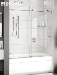 fleurco kinetik k2 performance k2057 35 40 in line sliding frameless tub door