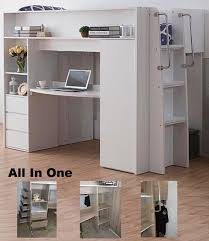all in one furniture. ALL IN ONE \u2013 KING SINGLE CABIN BUNK BED LOFT DESK BOOKCASE CUPBOARD WARDROBE WHITE All In One Furniture