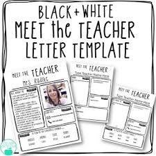 Meet The Teacher Letter Templates Black And White Editable Meet The Teacher Letter Template Free