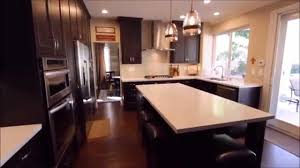 Ranch Kitchen Remodel Foothill Ranch Black White U Shaped Transitional Kitchen