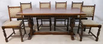 antique oak dining table and chairs antique round oak dining table