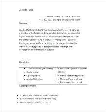 Photographer Resume Example Professional Photographer Resume Sample ...