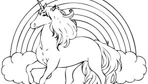 Printable Realistic Unicorn Coloring Pages Birthday Baby G Flying