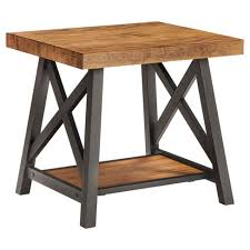 industrial metal and wood furniture. Lanshire Rustic Industrial Metal \u0026 Wood End Table - Inspire Q And Furniture