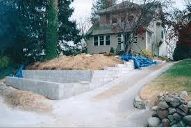 Small Picture Cinder Block Retaining Wall Design D Ferraioli Landscape Design