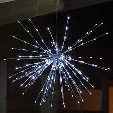 Sternenball Mit 192 Led An 48 Silbernen Stäben Die Led