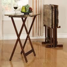 Folding Tray Table Set Laptop Tv Desk Dinner Food Serving Stone