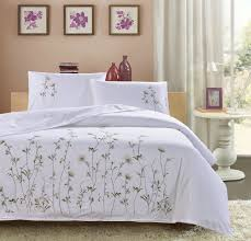 traditional bedding sets. Beautiful Sets Traditional White Embroidered Three Pcs Bedding Sets High Quality 100  Cotton Duvet Cover2Pillowcases Embroidery Setin Bedding Sets From Home  To L