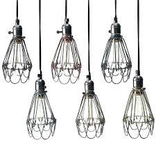 hanging light covers wire cage light covers retro vintage industrial lamp covers pendant trouble light bulb