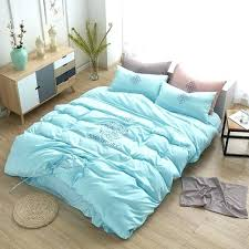 blue white duvet cover duck egg blue and pink duvet covers um image for simple embroidered
