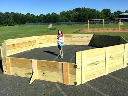 lively wooden gaga ball pit donated at elementary schools plans frank carter shows off the he