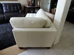 macy s milano white tufted leather chaise lounge couch we ship