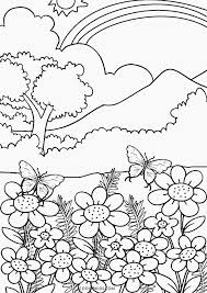 Spring Landscape Drawing At Getdrawingscom Free For Personal Use