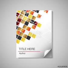 vector modern book cover brochure flyer design template for doents and reports with