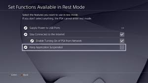 PS4 Suspend Feature Is Not Turned ON By Default In Firmware 2.50, Requires  Selection of