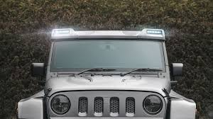 Jeep Jk Roof Lights Jeep Wrangler Roof Shield With Led Lights Chelsea Truck