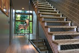 lamps home goods with modern wall sconces staircase contemporary and full size zebra light open risers