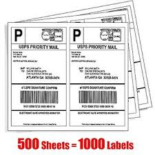 Buy Mflabel 1000 Shipping Labels White Blank Half Page Self Adhesive