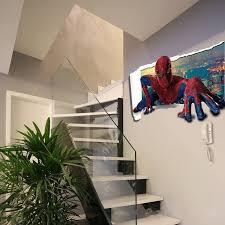 cartoon sticker spiderman 3d wall