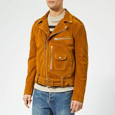acne studios men s ladd suede biker jacket brown free uk delivery over 50