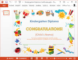 Preschool Diploma Template Printable Kindergarten Diploma Template For Powerpoint