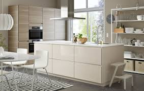 ikea lighting kitchen. A Large Kitchen / Diner In Light Beige And Walnut With Island Open Ikea Lighting H