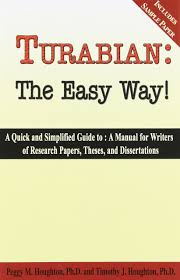 Turabian The Easy Way 7th Edition Peggy M Houghton Timothy J